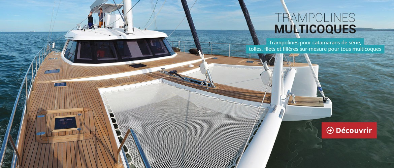 Trampoline pour catamaran de croisières