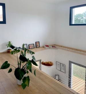 Filet d'habitation pour créer espace détente