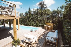 Villa Sayulita à Seignosse - Filet d'habitation et garde-corps en extérieur