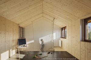 Filet garde-corps sur-mesure pour maison en bois