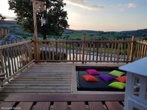 La Gazelle Perchée - Filet d'habitation pour terrasse en bois