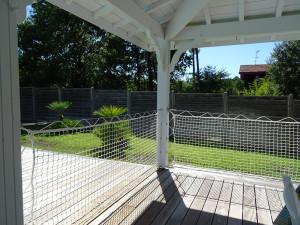 Protection de terrasse amovible en filet