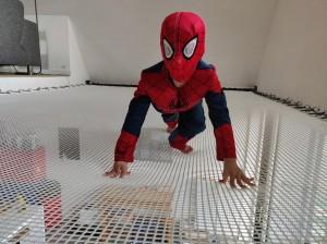 Spiderman sur sa toile