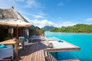 Hôtel Hilton Bora-Bora - Filet de catamaran pour terrasse sur-mesure
