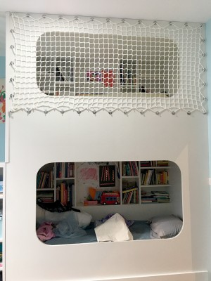 Le filet, idéal pour sécuriser un lit enfant