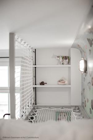Protection en filet pour lit en mezzanine
