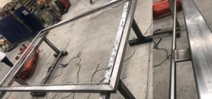 Beispiel einer maßgefertigten Stahlkonstruktion für ein Hausnetz