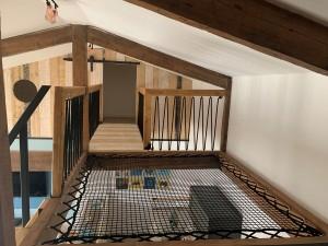 Le filet d'habitation permet de sécuriser le vide