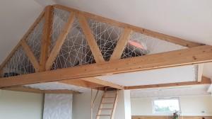 Un filet horizontal pour créer une pièce en plus