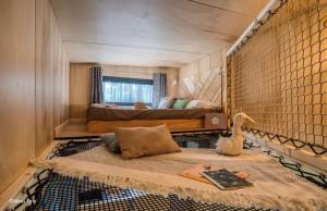 Tiny House Lacanau – Lit Mezzanine en Filet