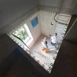 Structure intégrée à la maçonnerie