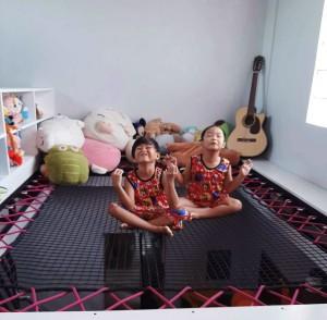 Un terrain de jeu pour les enfants ou un coin repos