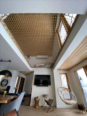 Aménager un vide sur séjour avec un filet d'habitation Loftnets
