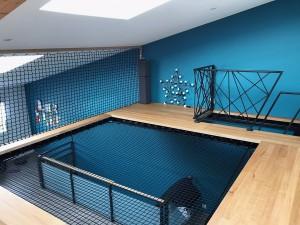 le filet horizontal permet de remplacer un plancher