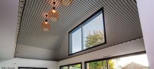 Black catamaran net for a modern house