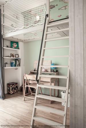 Petite cabane d'enfant en filet d'habitation