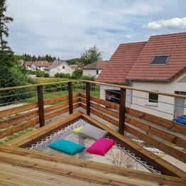 Filet d'habitation terrasse en bois