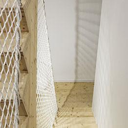Filet d'habitation et garde-corps pour escalier