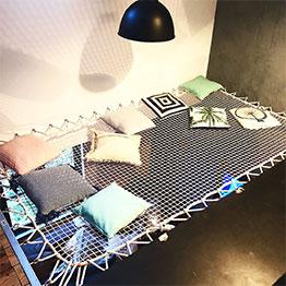 Optimisation d'un vide dans un appartement - filet suspendu