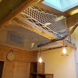 Création d'un espace de repos sur-mesure avec des filets d'habitation