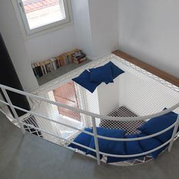 Filet d'habitation réalisé sur-mesure