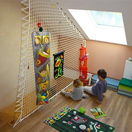 Garde-corps ludique pour chambre d'enfants