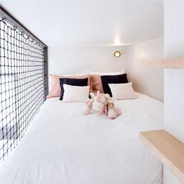 Filet garde-coprs dans chambre d'enfants -Réalisation Agence WOM Design - Stéphanie Michel-GIRARD - Photos Isabelle PICAREL
