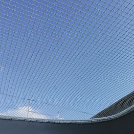 Bottom view of made to measure net for multihull prototype