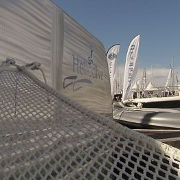 Made to measure net for Héliodive multihull