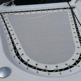 Technical canvas trampoline for Privilege multihull