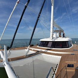Trampoline for Sunreef multihull